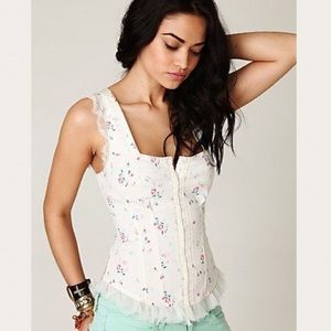 Free People Poplin In The Wind Floral Corset 12